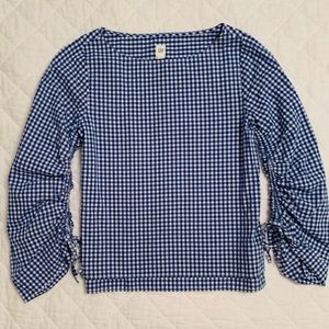 Gap checked blouse